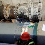 Medidor de vazão de água industrial